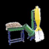 Измельчитель соломы 380 В, 11 кВт (соломорезка, сенодробилка) c циклоном