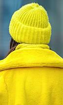В'язаний комплект шапка з хомутом з пряжі травичка різних кольорів, фото 2