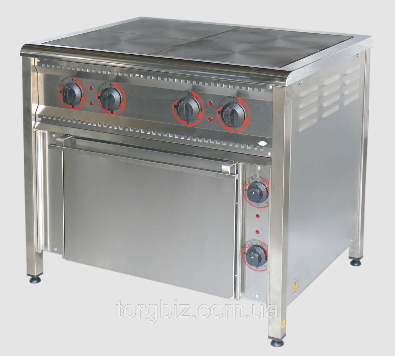 Электрическая плита 4 конфорочная ПЕ-4Ш Н (Крашеная или нерж. сталь)