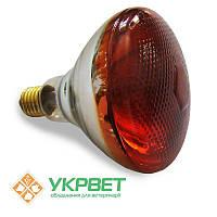 Інфрачервона 100 Вт лампа для обігріву тварин, товсте скло з напиленням, Bongbada, фото 1
