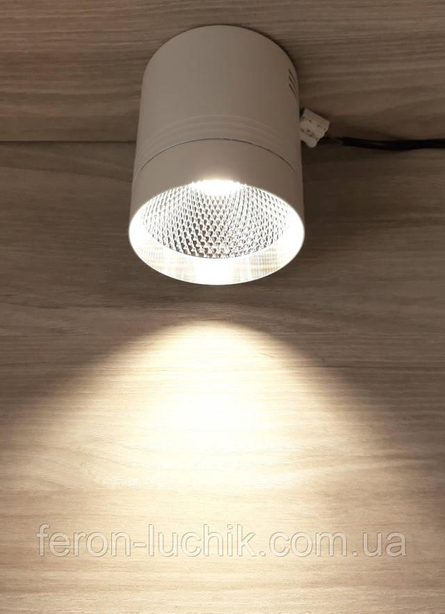 акцентный светильник Feron AL542 18W 4000K 1530Lm белый+серебро