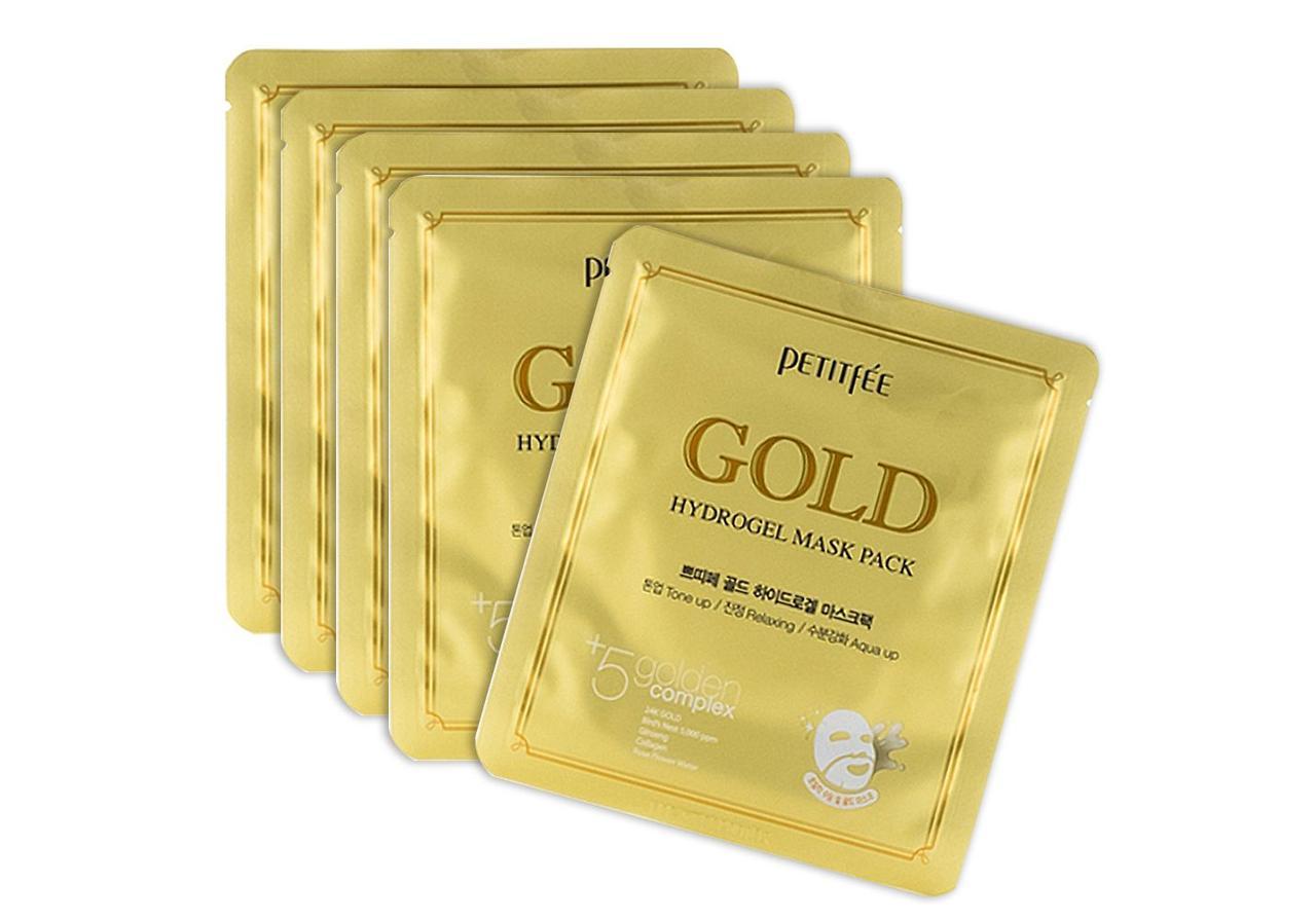 Гидрогелевая маска для лица с экстрактом золота Gold Hydrogel Mask Pack Petitfee