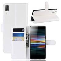 Чехол-книжка Litchie Wallet для Sony Xperia L3 / L4312 Белый
