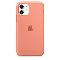 Чехол для iPhone 11 Silicone case begonia red