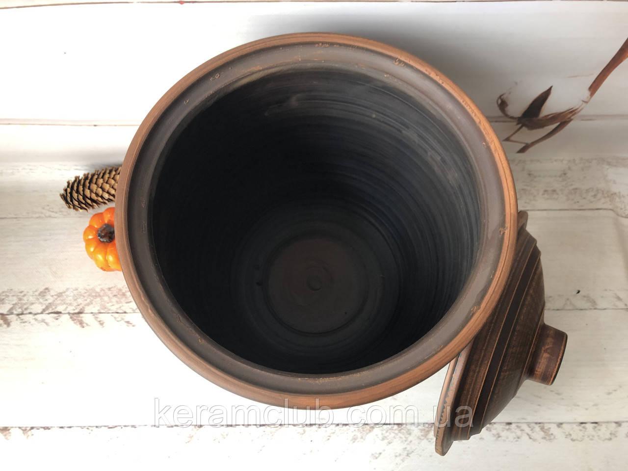 Бочка для солений 10 л красная глина - фото 2