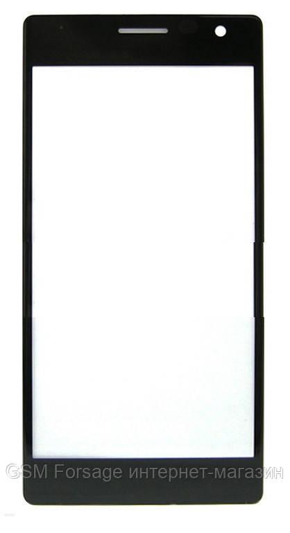 Стекло дисплея Nokia 730 Black (для переклейки)