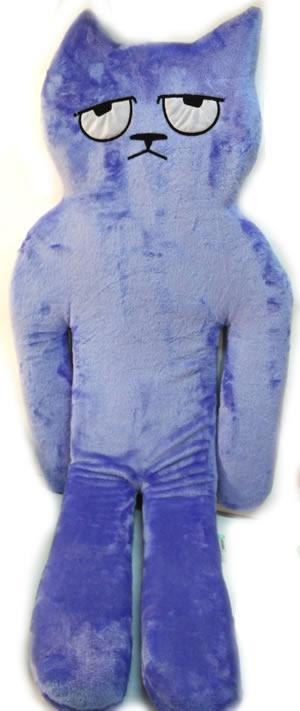 Игрушка-подушка, Кот, большой, голубой