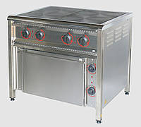 Плита электрическая 4 конфорочная с духовкой ПЕ-4Ш Н промышленная