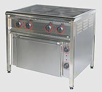Плита электрическая 4 конфорочная ПЭ-4Ш Н промышленная НЕРЖ. СТАЛЬ