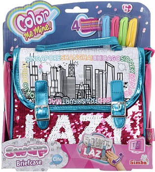 Сумка-портфель Sіmba Toys Колор Мі Майн. Хамелеон, 4 маркера, 21 x 19 см 6374265