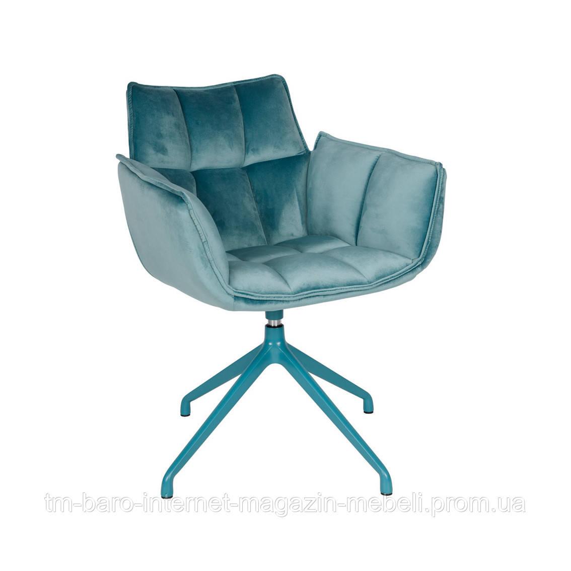 Кресло поворотное Chardonne (Шардонне), текстиль бирюза (Бесплатная доставка), Nicolas