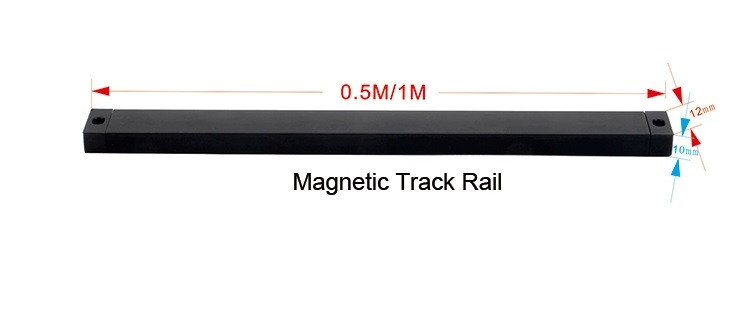 Mini magnetic track   черный  1м