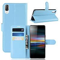 Чехол-книжка Litchie Wallet для Sony Xperia L3 / L4312 Голубой