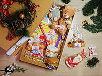 """Большой новогодний подарочный набор """"Christmas Teddy"""" с поздравительной телеграммой"""