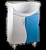 Тумба с умывальником АкваСан S56-2 Бело-Голубая