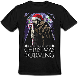 Футболка Game Of Thrones - Brace Yourselves Christmas Is Coming (чёрная)