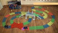 Дитяча гнучка іграшкова залізниця Magic Tracks 360 деталей (GIPS), дитячий гоночний трек, фото 1