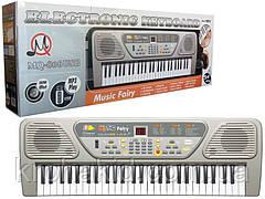 Детский синтезатор MQ-806USB с микрофоном, 54 кл, радио, от сети (батареек), в коробке