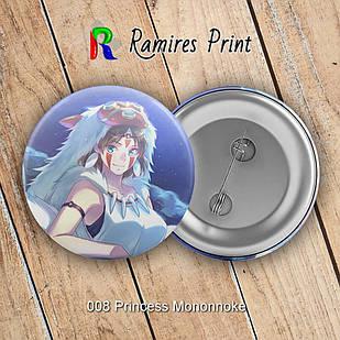 Значок Аниме Princess Mononoke 008