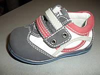 Детские туфельки для мальчика на липучках 18, 19, 20 размеры