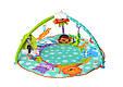 Развивающий коврик для младенца 7182 (63504) с подвесными музыкальными погремушками, фото 2