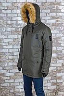 Мужская зимняя куртка Danstar KZ-172х  хаки