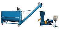 Гранулятор корма 380 В, 11 кВт. и Шнек точной загрузки - мини линия грануляции