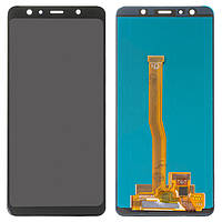 Дисплей для Samsung Galaxy A7 A750 (2018), модуль в сборе (экран и сенсор), черный, OLED