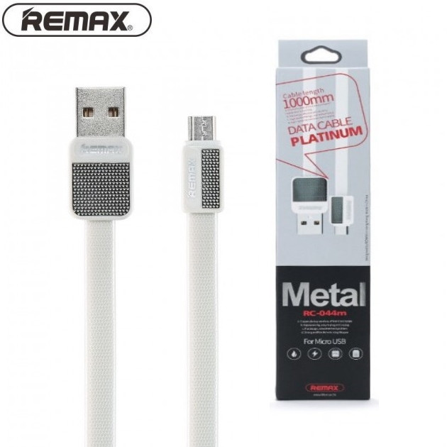 Кабель USB DATA Remax Platinum RC-044m Micro USB (1m) white