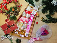 """Большой новогодний подарочный набор """"With Love"""" для любимой с именным поздравительным письмом"""