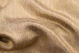 Шарф двухсторонний из шерсти/шелка синий/золотой, фото 6