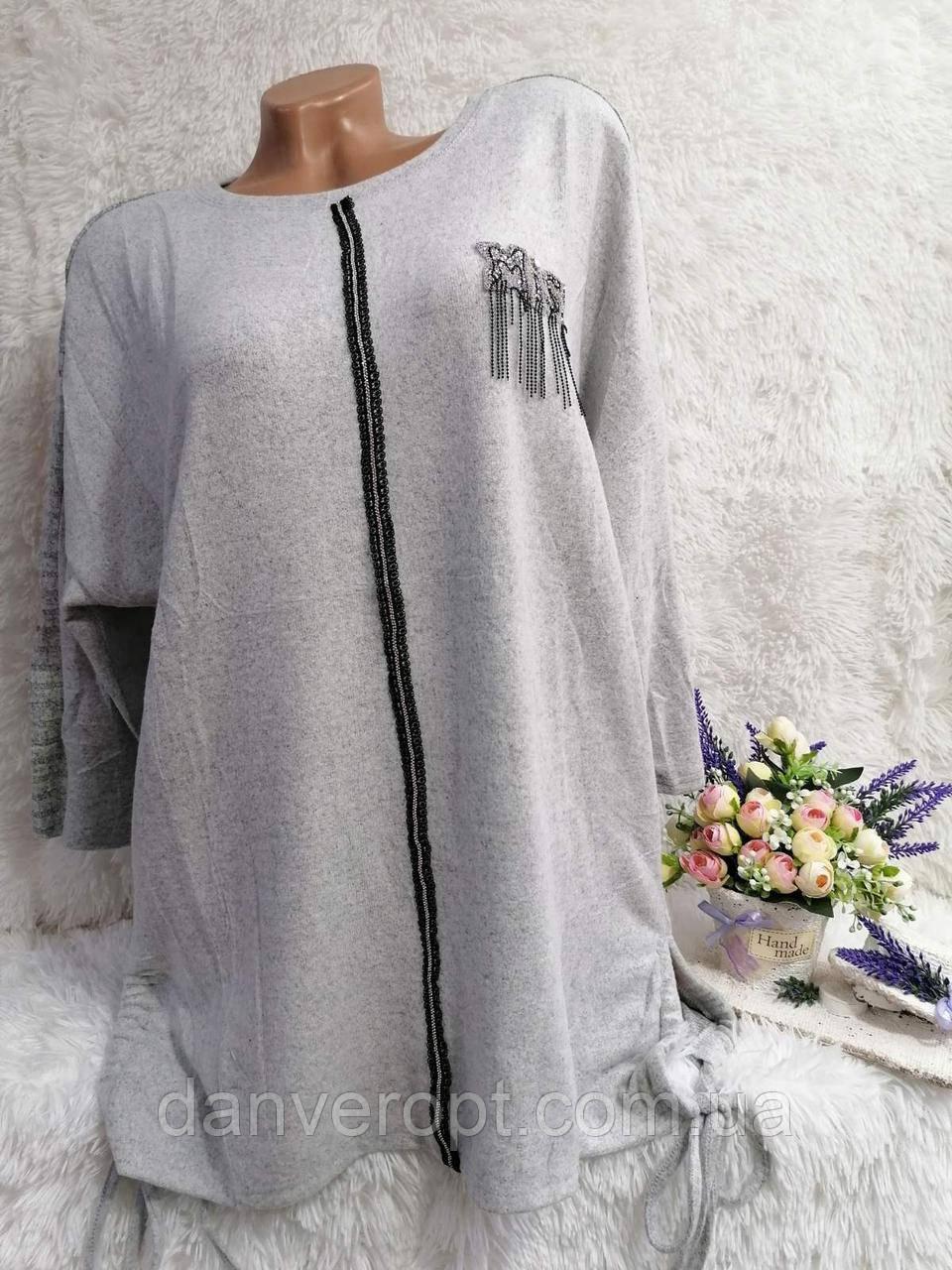 Туника женская модная стильная размер 2XL-4XL купить оптом со склада 7км Одесса