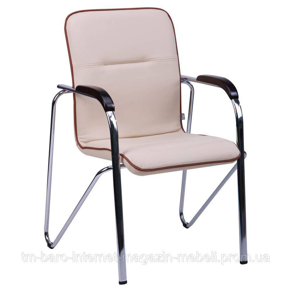 Кресло Самба хром орех Неаполь Неаполь N-17 с кантом