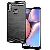 TPU чехол iPaky Slim Series для Samsung Galaxy A10s (2019) A107 - противоударный бронированный черный