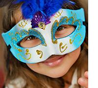 детские маскарадные маски на новый год, фото