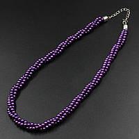 """Бусы из искусственного камня """"Artemi Purple"""" L - 45 см"""
