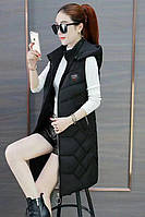 Хит!!! Женская удлиненная  стеганная жилетка фабричный Китай много цветов