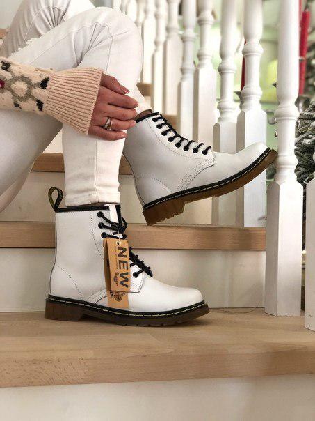 Женские ботинки Dr. Martеns с набивным мехом