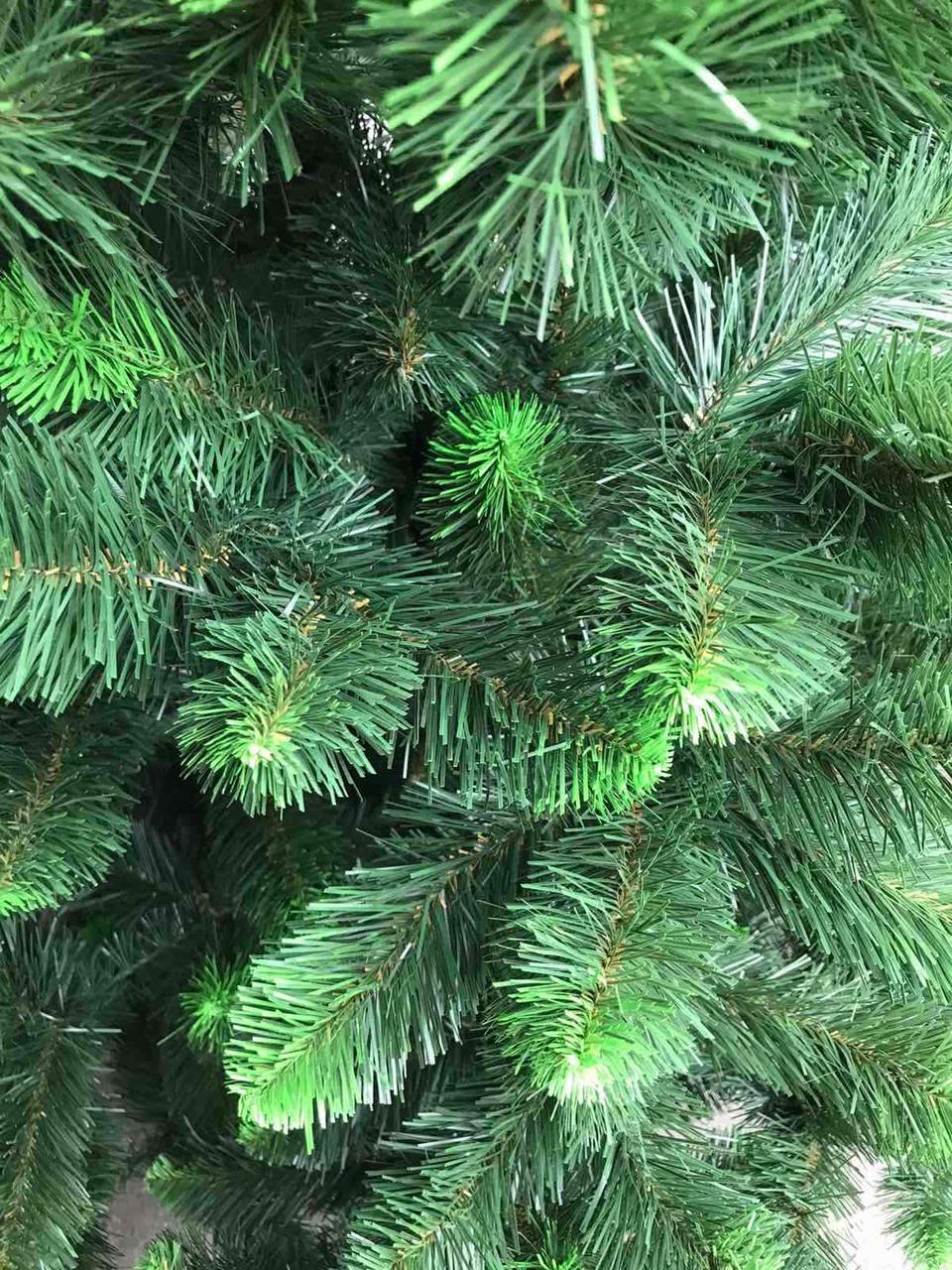 Ялинка 1,5 м штучна Лісова Королева Зелена з салатовим кінчиком новорічна 150см (Ялина)(Ялинка Королева)