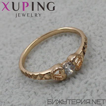 Кольцо Xuping медицинское золото 18K Gold - 1027630457, фото 2