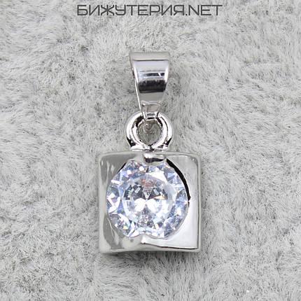 Кулон женский Stainless Steel с кристаллом цвет металла белое золото - 1063360091, фото 2