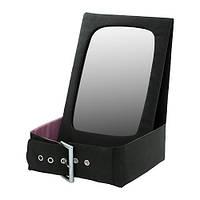 """ИКЕА """"БЕТРАКТА"""" Настольное зеркало с отделен д/хран, черный, розовый"""