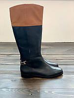 Черно-коричневые сапоги Ralph Lauren, фото 1