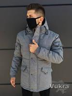 СКИДКА -20%! Мужская Зимняя парка до -30°С Самовывоз длинная куртка Харьков