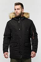 Мужская зимняя куртка Danstar KZ-108ч (50) чёрная