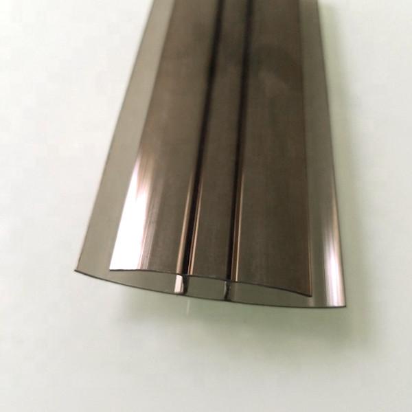 Профиль соединительный неразъемный, бронза, 6 м, для листов поликарбоната 10 мм