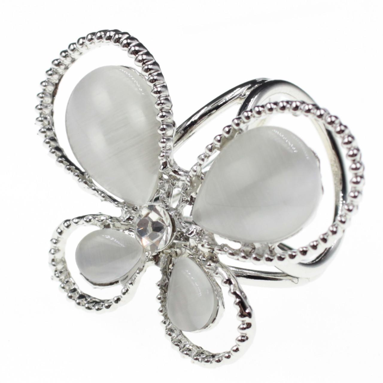 """Кольцо для платка """"Araceli silver"""""""