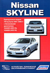 Nissan Skyline. Праворульные модели V35 выпуска 2001-2006 гг с двигателями VQ25DD, VQ30DD