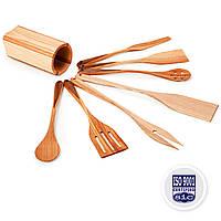 Кухонный Набор Деревянных Лопаток И Ложек В Тубусе PORSHEN Из 7 предметов