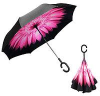 Зонт навпаки Up-Brella Рожева квітка